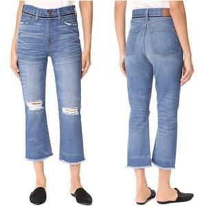 Madewell Distressed High Rise Retro Crop Bootcut